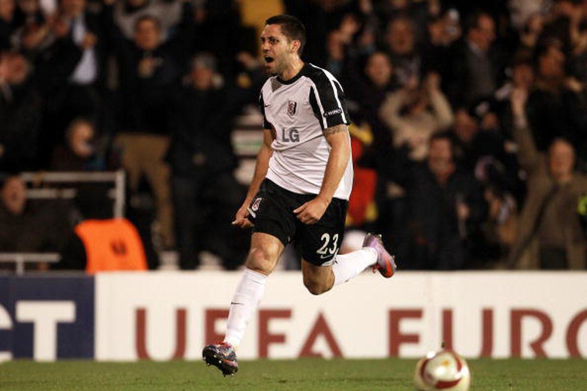 Clint Dempsey vs. Juventus 3/18 at Craven Cottage. Photo via Getty Images