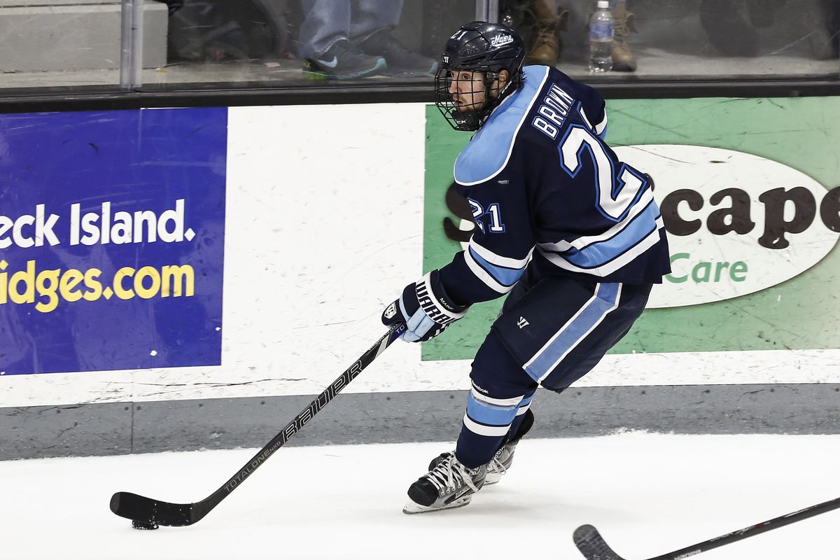 Cam Brown and his Maine teammates swept visiting UMass this weekend at Alfond Arena.