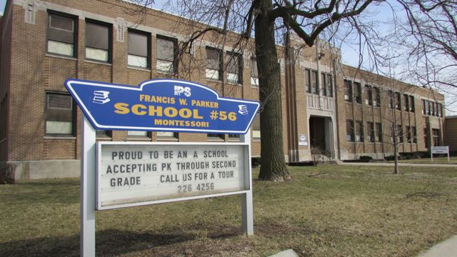 School 56 is a Montessori school on the North side.