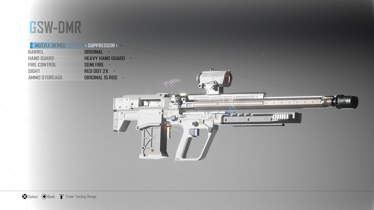 Another view of a rifle from Project Boundary