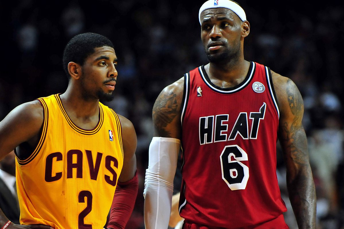 Could LeBron team up with Kyrie Irving in Cleveland if he bolts in 2014?