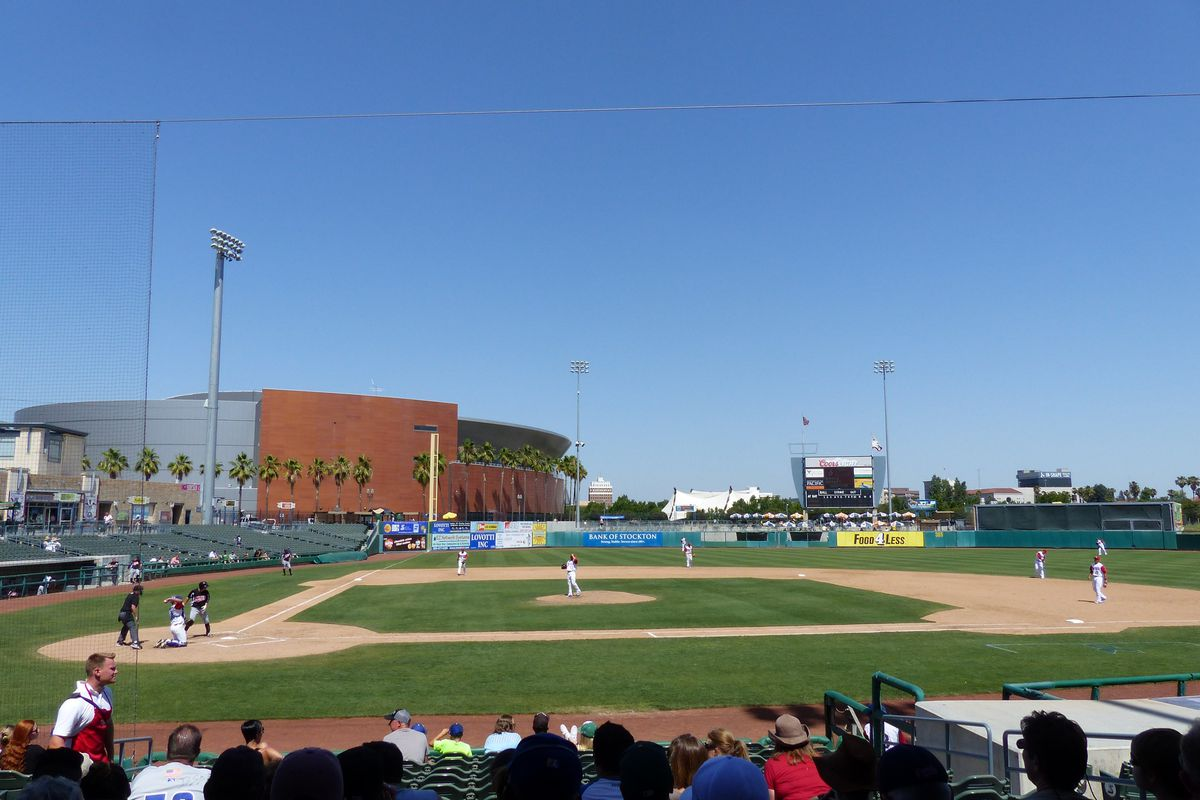 Banner Island Ballpark is home to some of Oakland's top prospects.