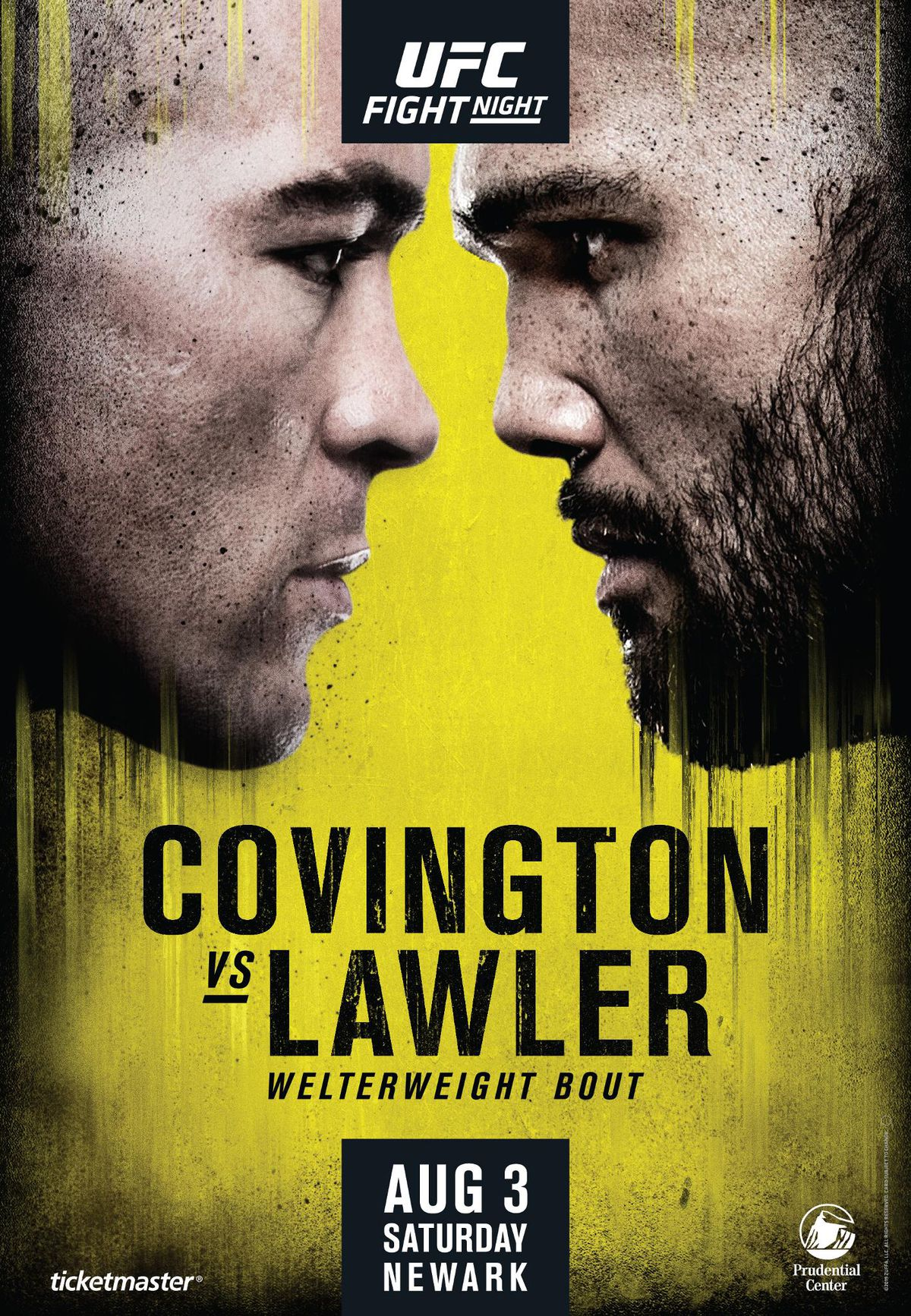 UFC Newark poster drops for 'Covington vs Lawler' on Aug. 3
