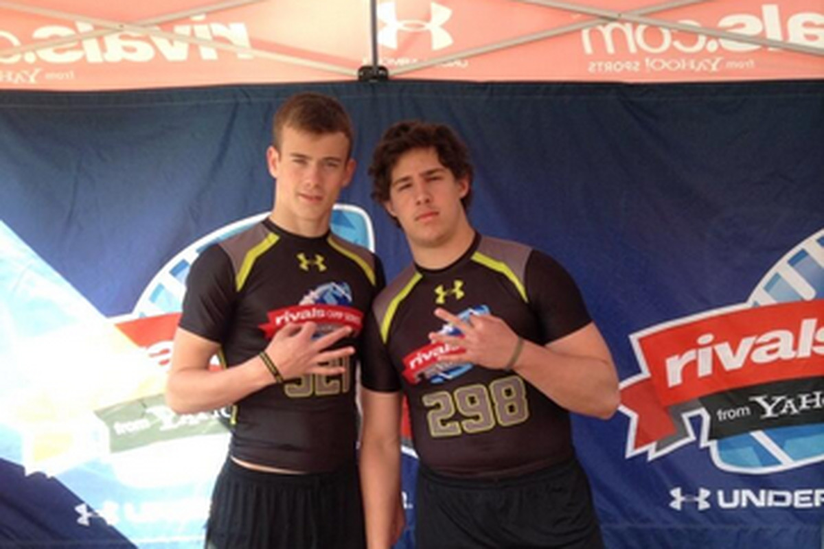 3* Archbishop Wood linebacker Jake Cooper (Pictured on the right)
