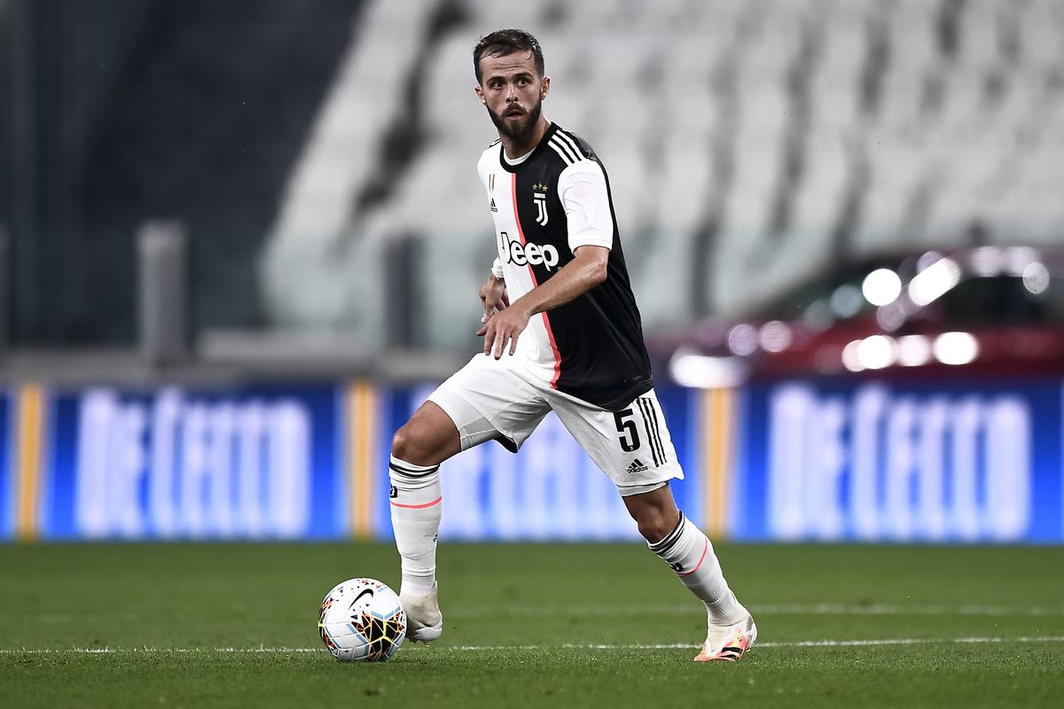 Miralem Pjanic of Juventus FC in action during the Serie A...