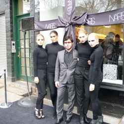 M. Francois Nars and the ladies before the ceremonial unwrapping