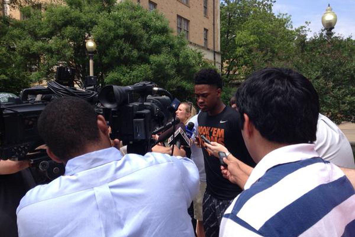Isaiah Taylor discussing his decision on Sunday
