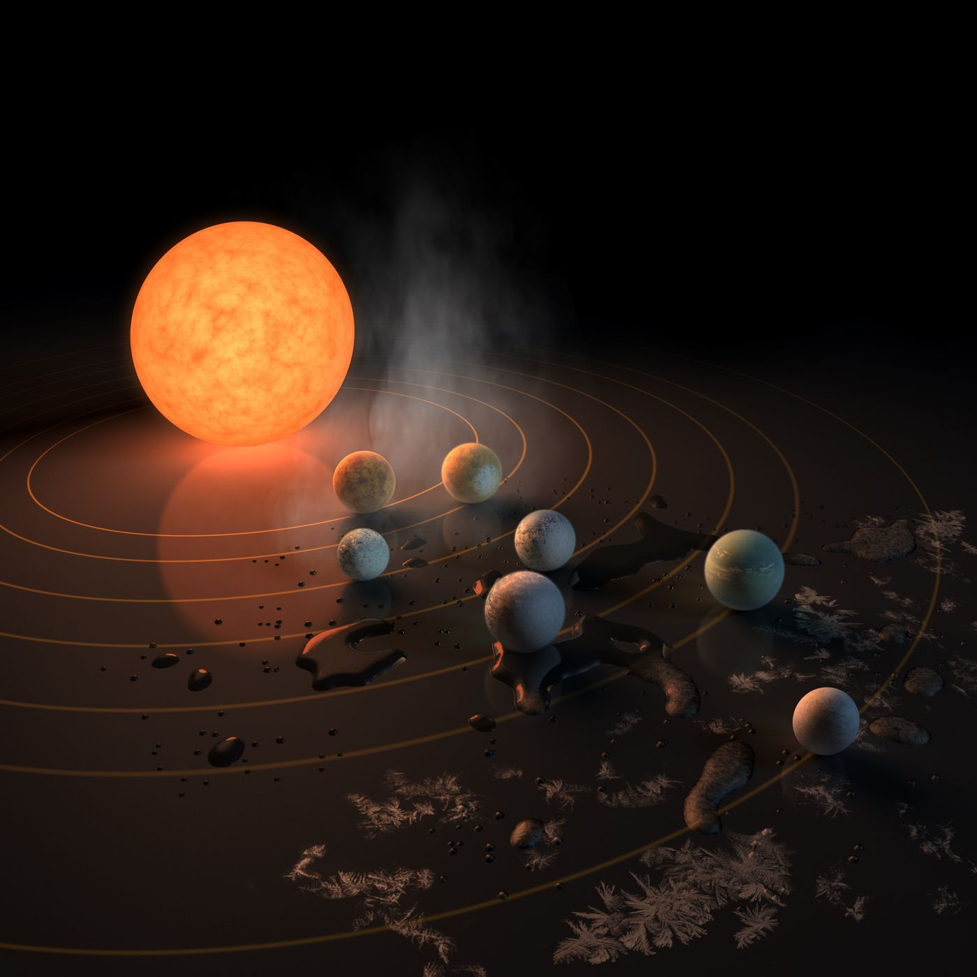 This solar system of seven Earth-sized planets may be the