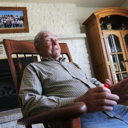 Longtime Panguitch resident Maloy Dodds talks Monday, June 8, 2015, about Garfield County economic troubles and declining school enrollment since 1996.