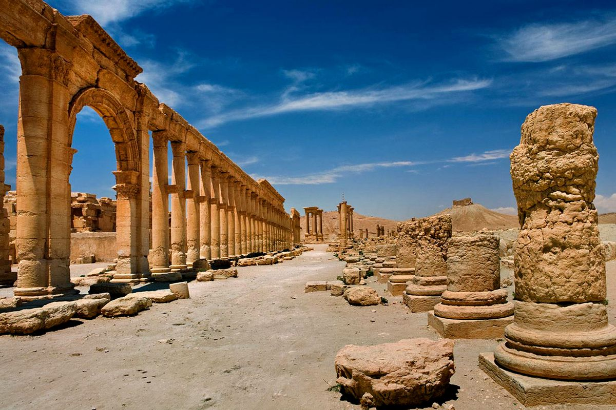 An undated photo showing the ancient city of Palmyra prior to ISIS's control.