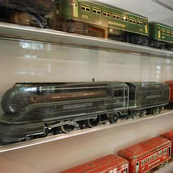 Multiple model train sets, collected by David E. Sperry, and other train-related memorabilia fill Kaysville's 1880s-era railroad station, now located on the south end of Lagoon?s Pioneer Village.