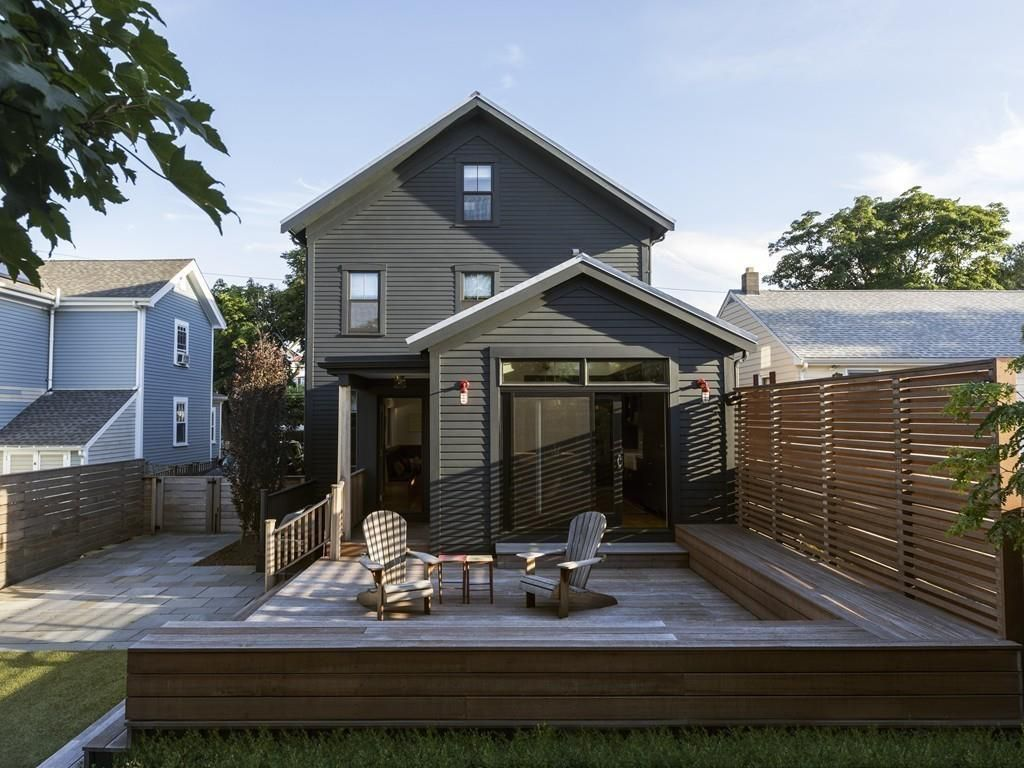 A back deck off a house.