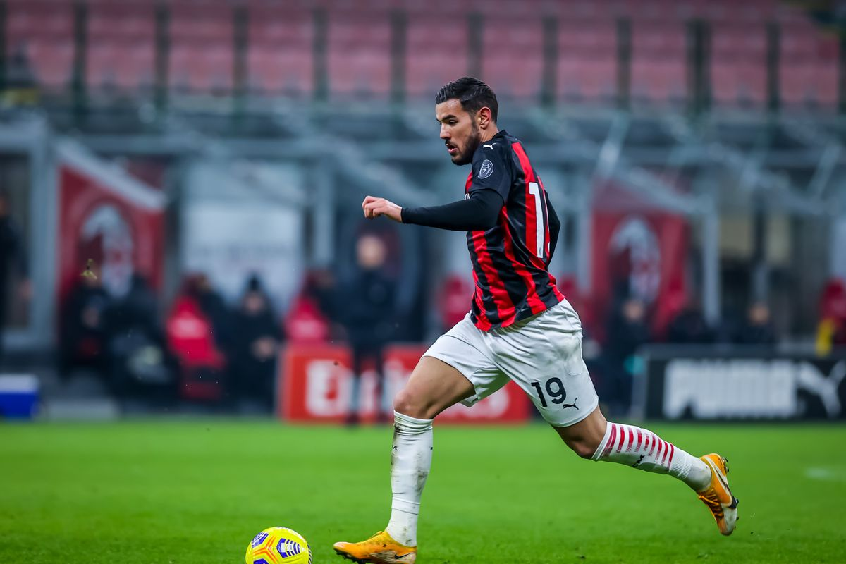 Theo Hernandez of AC Milan seen in action during the Serie A...