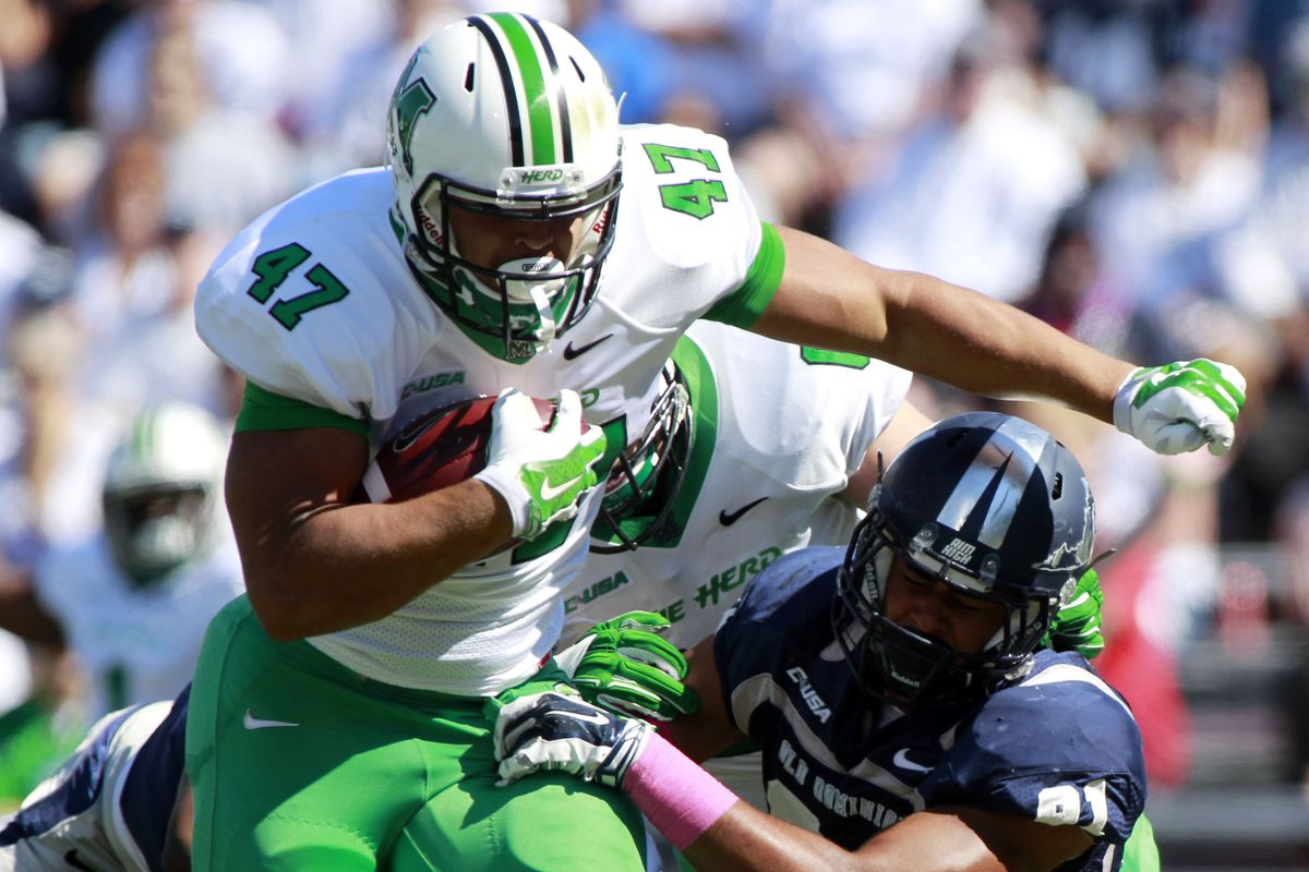 Devon Johnson is a load for anyone to bring down.