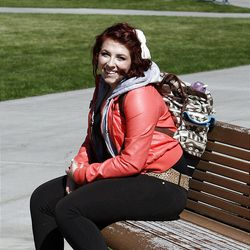 Alana Smith poses for a photo on Brigham Young University campus in Provo, Monday, Oct. 8, 2012.