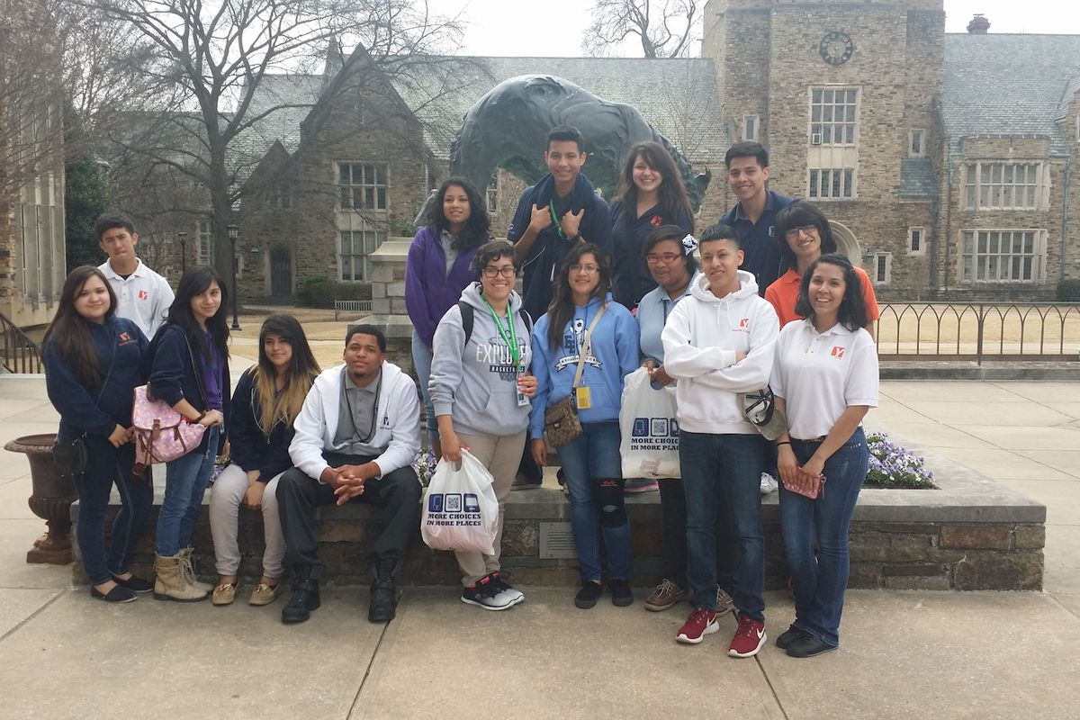 Yes Prep students at Rhodes College, in Memphis.