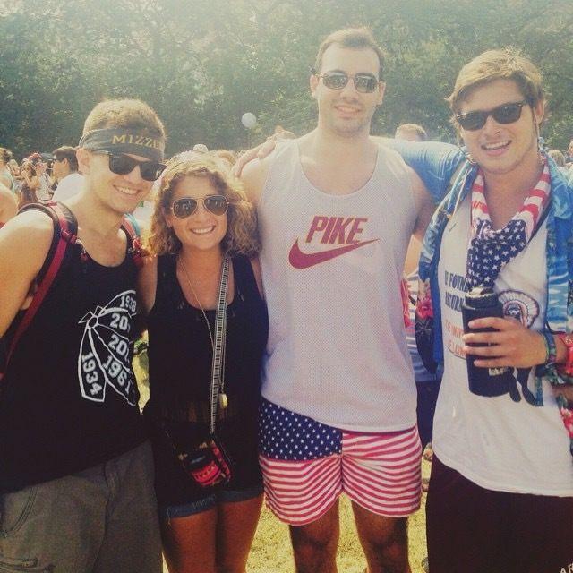 Blake Landa (right) at Lollapalooza 2014. | Provided photo