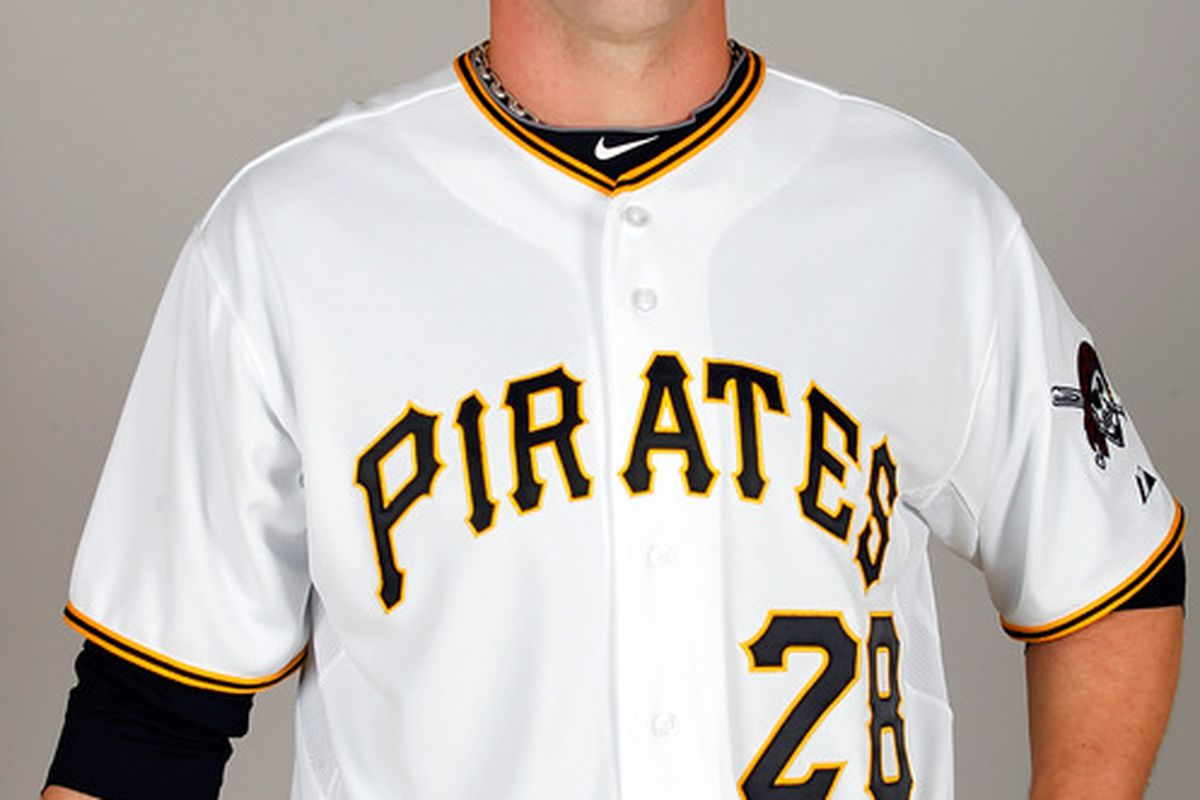 BRADENTON FL - FEBRUARY 20:  Pitcher Paul Maholm #28 of the Pittsburgh Pirates poses for a photo during photo day at Pirate City on February 20 2011 in Bradenton Florida.  (Photo by J. Meric/Getty Images)