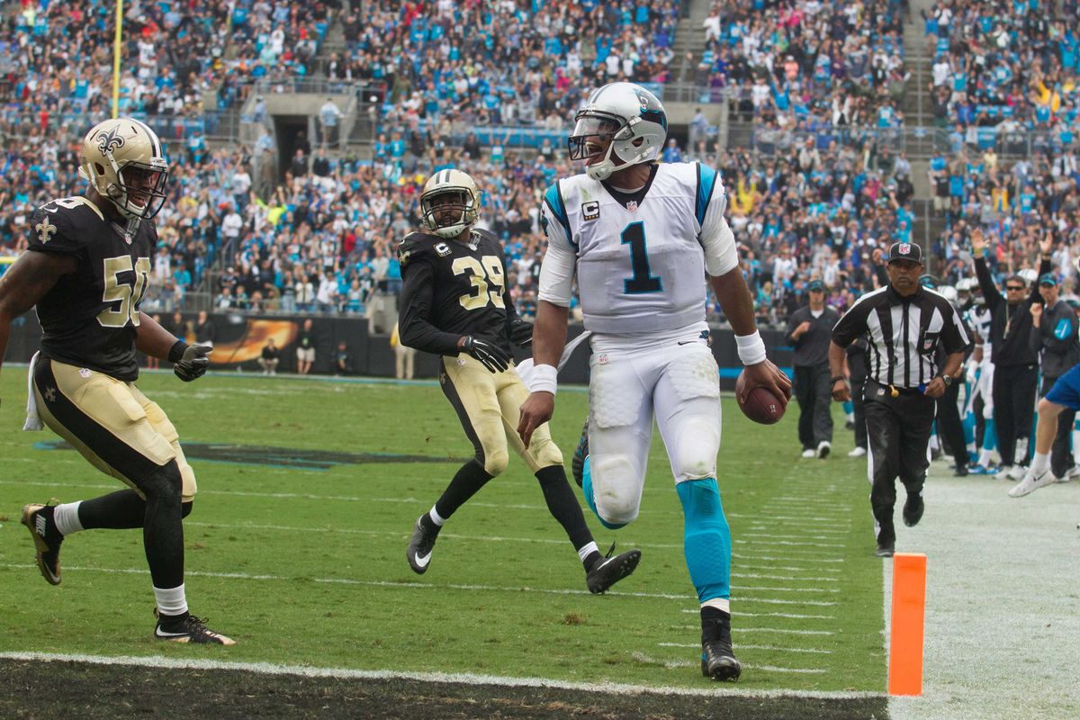 Cam Newton may waltz in to the end-zone a couple times this week.