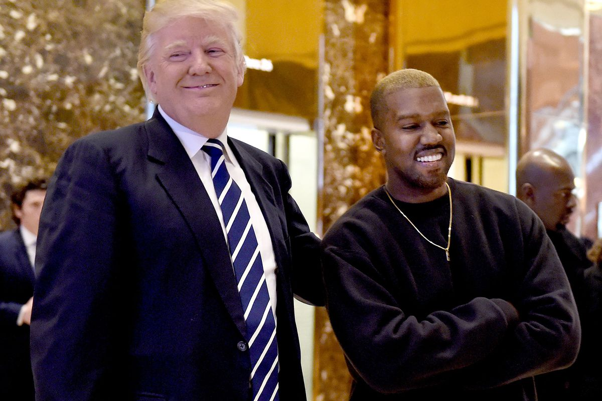 Kanye West with Donald Trump during a December 2016 meeting at Trump Tower. West and Trump will meet again this week, this time at the White House.