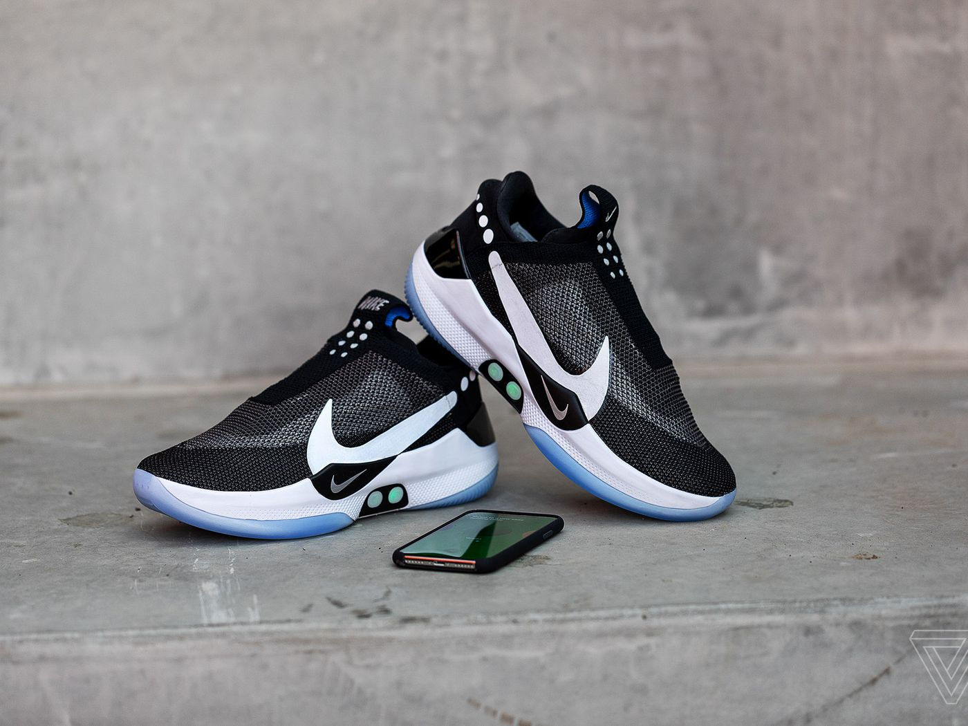 cf42eb75560ff Nike s Adapt BB self-lacing sneakers let you tie your shoes from an app -  The Verge