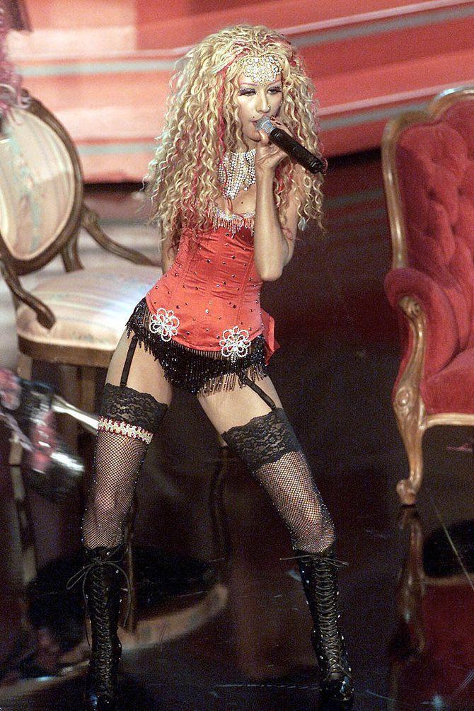 7 Vmas Where Christina Aguilera Mistook Lingerie For