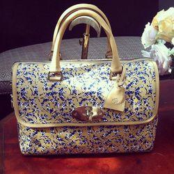 The Del Rey bag (named after Lana Del Rey) gets the gecko treatment.