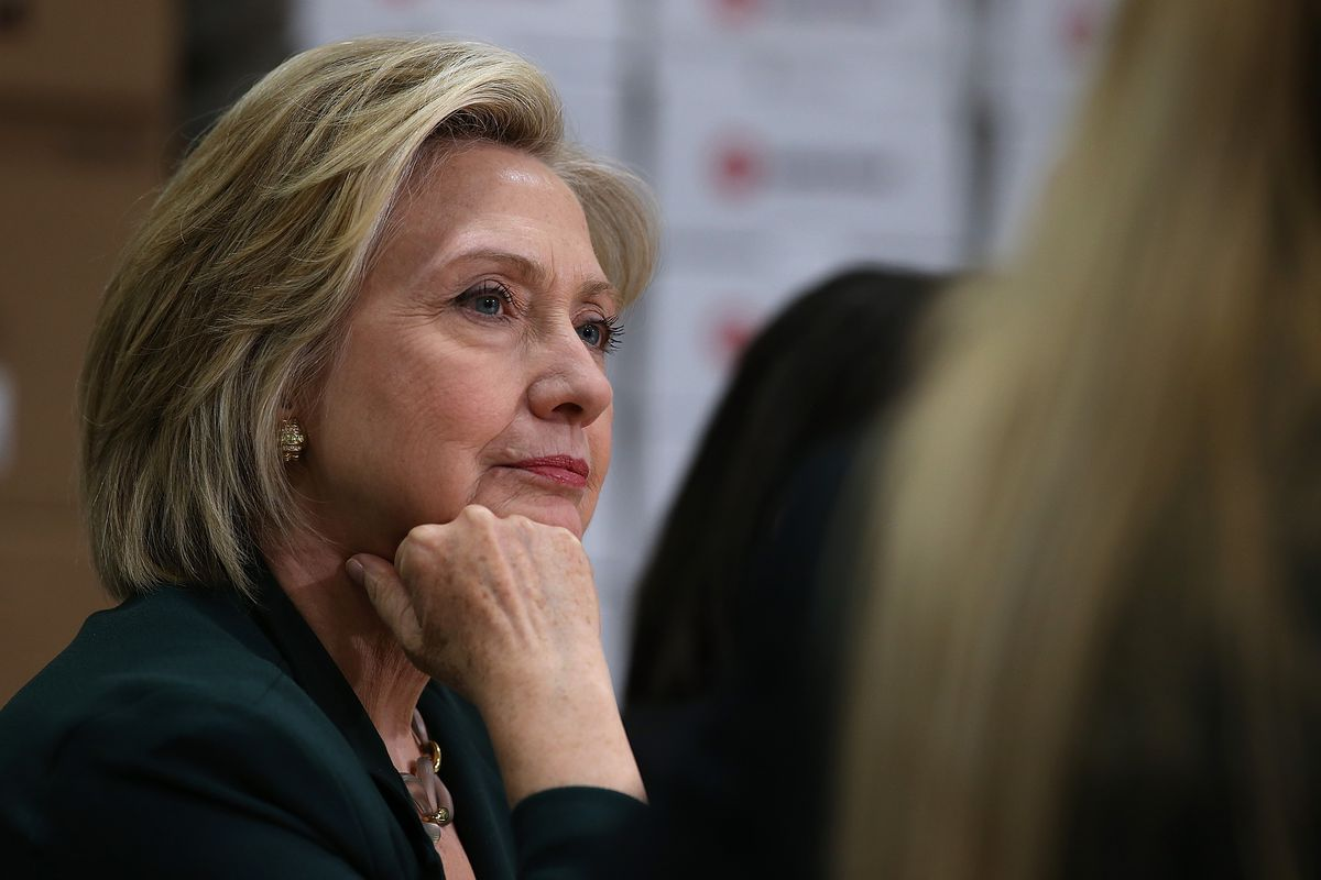 Clinton at an Iowa roundtable on Tuesday.