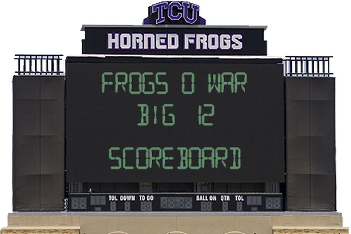 Scoreboard watching is fun, you don't have to watch TCU play