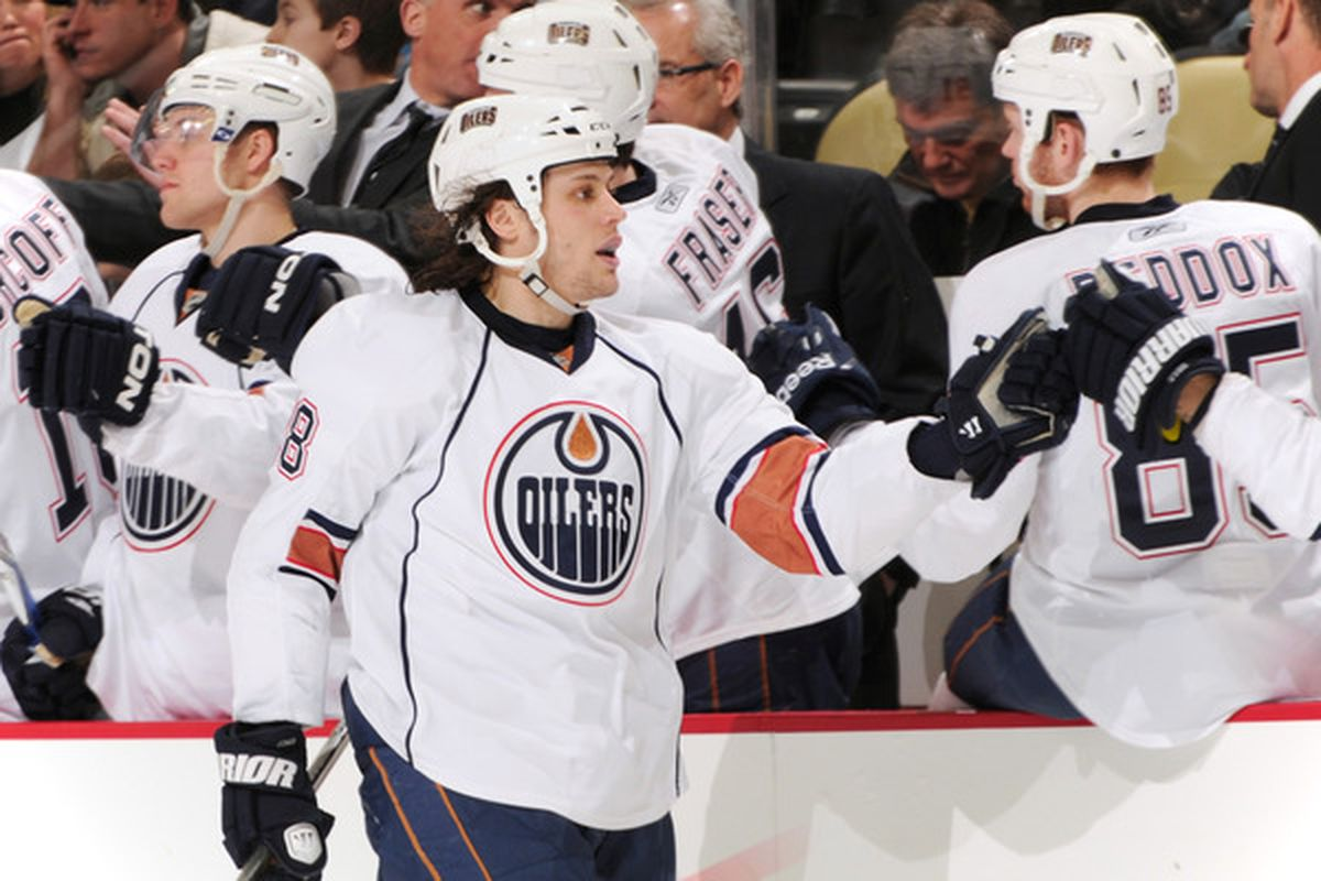 Ryan Jones, the lone goal scorer and now top active roster spot Oiler for goals scored on the season with 16.