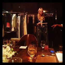 """""""Previewing the @agjeans holiday and resort collections with @zannarassi from @marieclairemag. Way fun! #AGluvsMarieClaire"""" - <a href=""""http://instagram.com/p/P--e8Ox7yO/"""">@TheZoeReport</a>"""