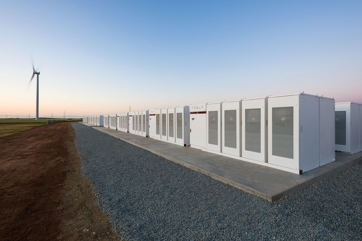 Elon musk has finished building the worlds biggest battery in less tesla powerpacks in south australia photo tesla malvernweather Gallery