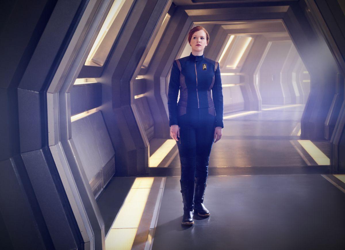 Mary Wiseman as Cadet Sylvia Tilly on Star Trek: Discovery.