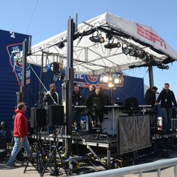 1:45 p.m.ESPN Baseball Tonight stage, in front of the Cubs Store -
