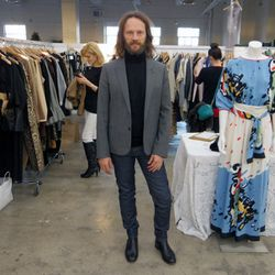 Woodbury University fashion professor and Scout booth attendant Gerard Dislaire.