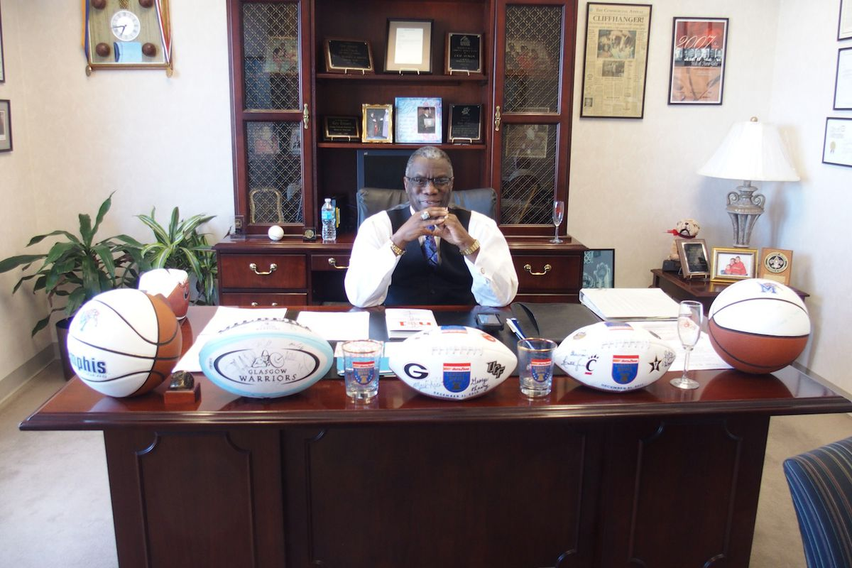 State Board of Education member Cato Johnson in his Methodist Healthcare office in Memphis