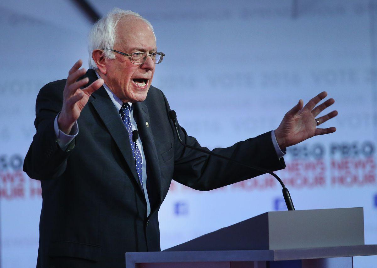 Bernie Sanders at the February 11 debate.