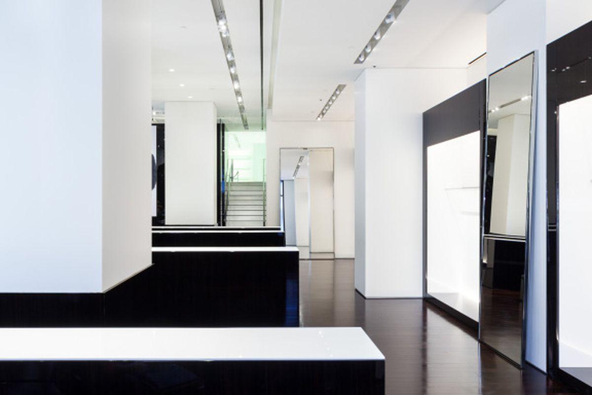 The new store's interior.
