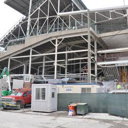 Northwest corner of the ballpark -