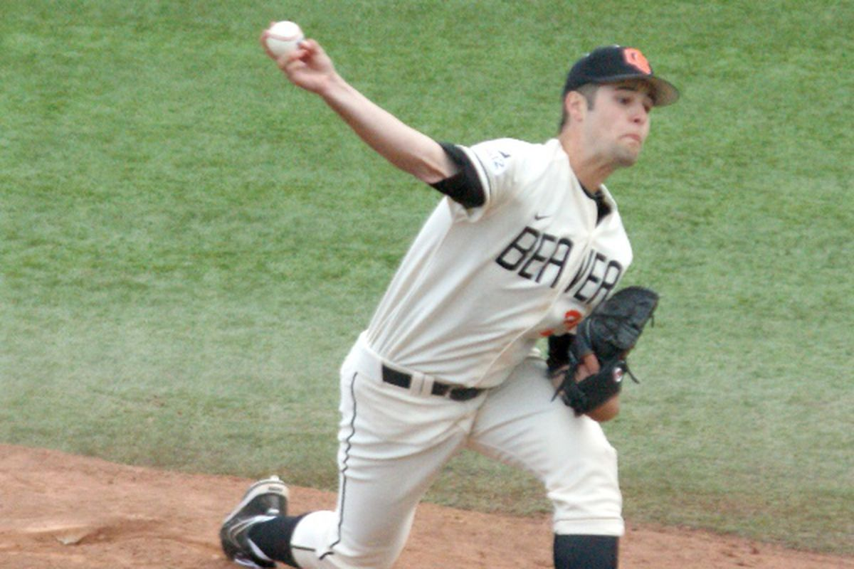 Scott Schultz went 3 scoreless innings and earned the save Sunday. (Photo by Andy Wooldridge)