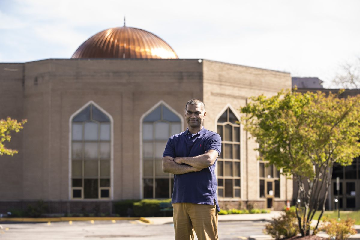 Kamran Hussain, president of the Muslim Community Center, at the Muslim Education Center mosque in Morton Grove.