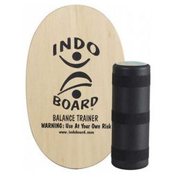 """For the balancing fiend, purchase the <strong>Indo Board</strong>, <a href=""""http://indoboard.com/original-natural"""">$144.95</a> at Aqua Surf Shop. A few minutes perched on top of this rolling contraption will have even the most experienced surfer's legs an"""