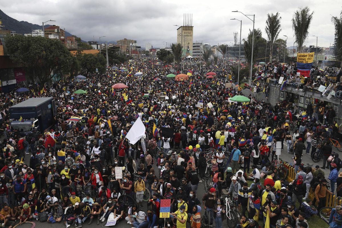 Colombians have taken to the streets for weeks across the country after the government proposed tax increases on public services, fuel, wages and pensions.