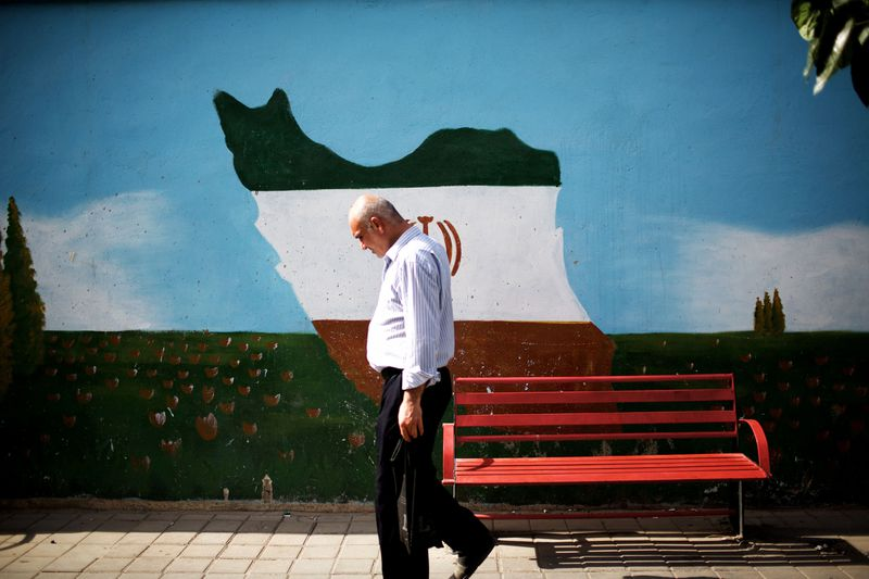 iran man walking