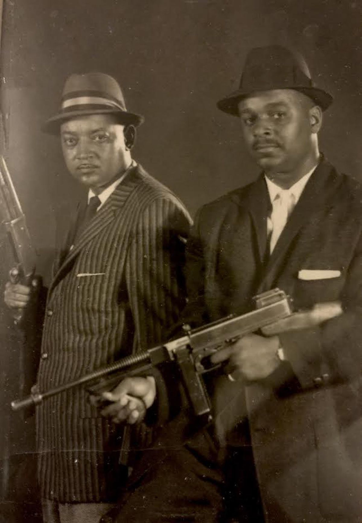 """Detective Clarence Burke Jr. (right) and his partner Luceke """"Zeke"""" Mays were credited with solving many crimes when they worked at the Chicago Police Department. """"That's how they always looked — sharp and ready,"""" said Mr. Burke's son Keni."""