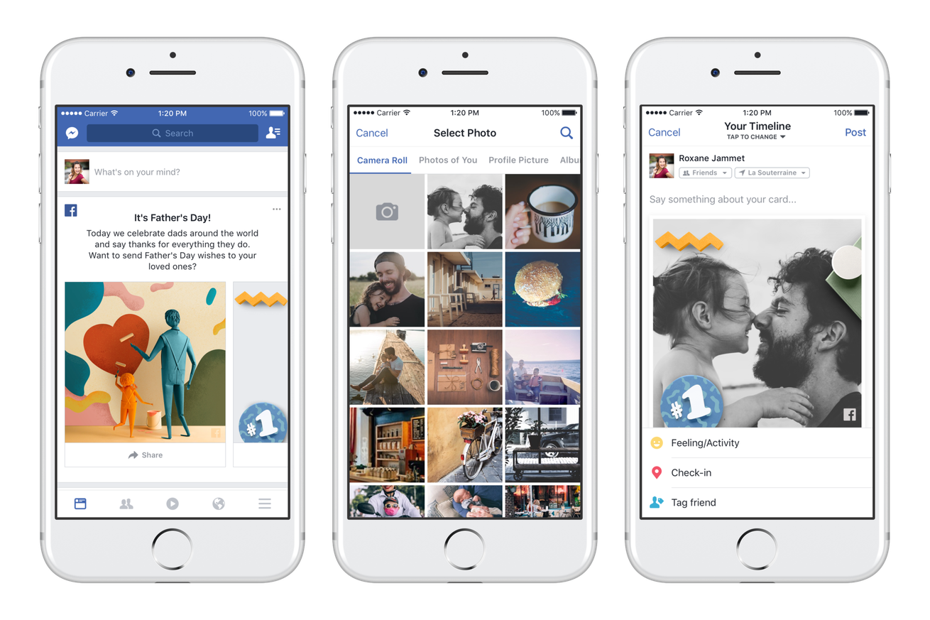 facebook and google have some special features to help you celebrate father s day