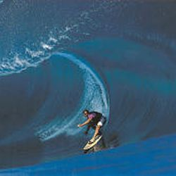 """Laird Hamilton surfs Teahupoo in Tahiti in """"Riding Giants,"""" which kicks off documentary series in Park City."""