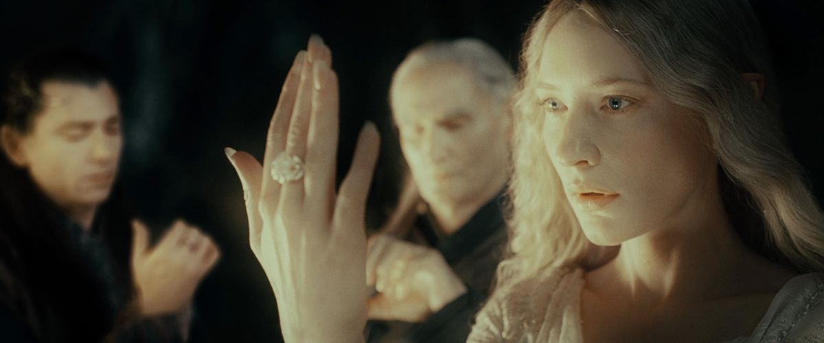 Galadriel gets a ring in Lord of the Rings: The Fellowship of the Ring