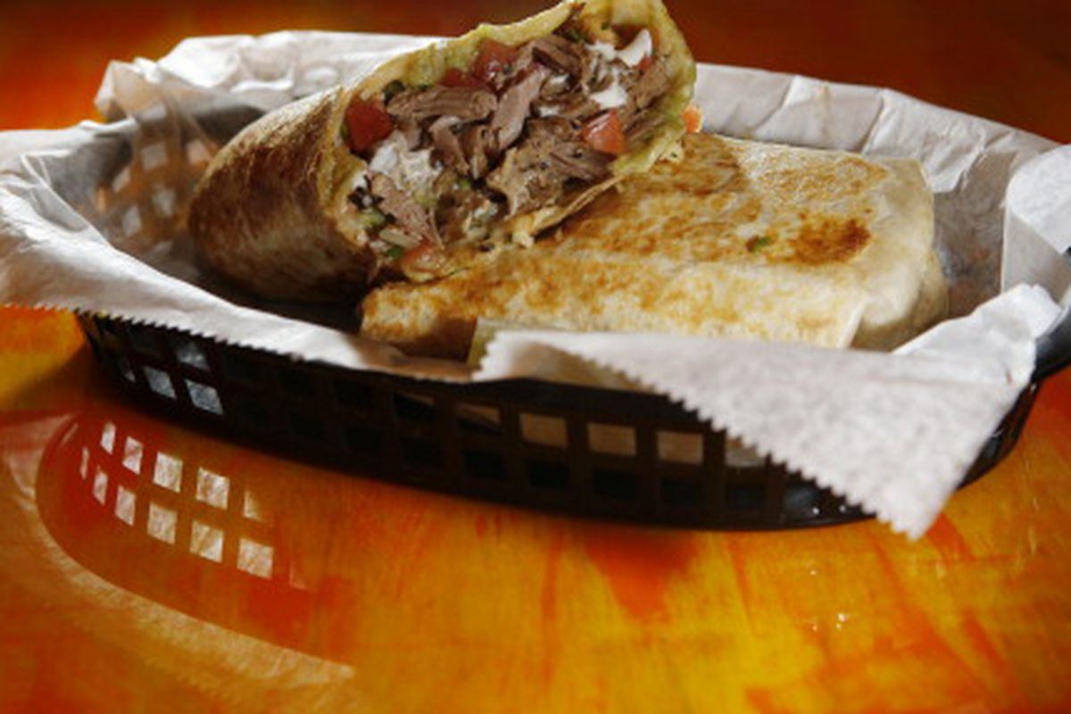 This is a burrito. In the state of New York, this is considered a sandwich.