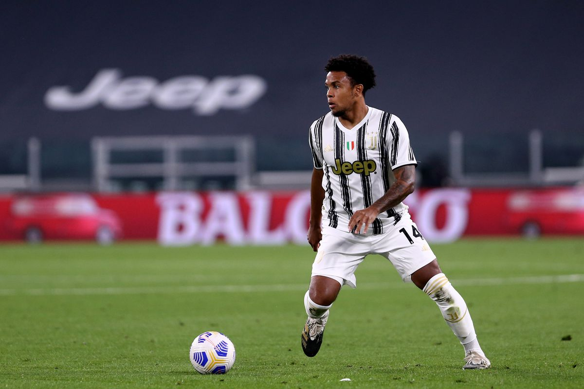 Weston McKennie of Juventus FC in action during the Serie A...